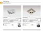 Точечный светильник PIRAMIDE XL Azzardo NC1673SQ-GO 1