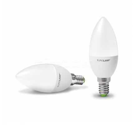 Лампа EUROLAMP LED ЕКО CL 6W E14 3000K