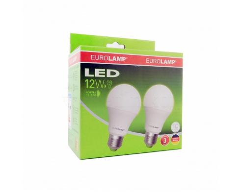 Промо-набор EUROLAMP LED Лампа A60 12W E27 4000K акция 1+1