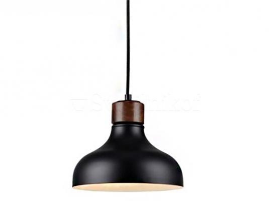 Підвісний світильник MARKSLOJD MAY Black/Oak 106658