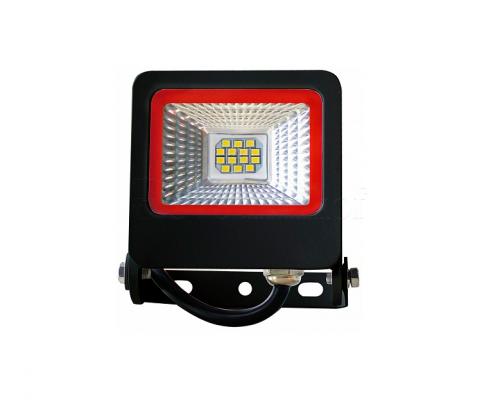 EUROELECTRIC LED SMD Прожектор  чёрний с радиатором NEW 20W 6500K