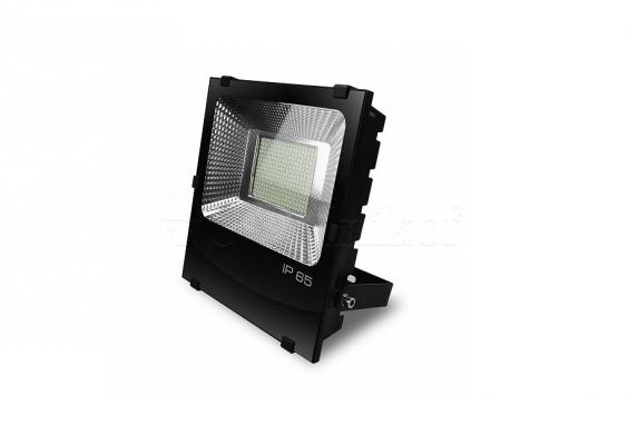 EUROELECTRIC LED SMD Прожектор чёрний с радиатором 100W 6500K