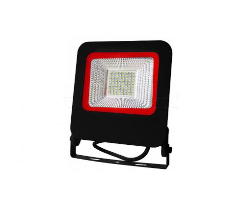 EUROELECTRIC LED SMD Прожектор  чёрний с радиатором NEW  50W 6500K