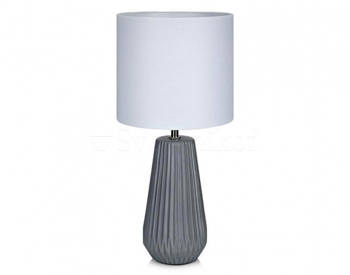 Настільний світильник MARKSLOJD NICCI Grey/White 106449