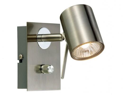 Настенный светильник MARKSLOJD HYSSNA 1L Steel 104440