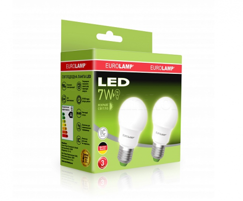 Промо-набір EUROLAMP LED Лампа A50 7W E27 3000K акція