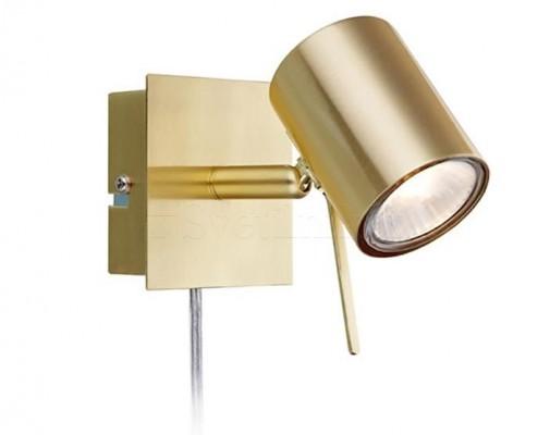 Настенный светильник MARKSLOJD HYSSNA LED 1L Brass 106316
