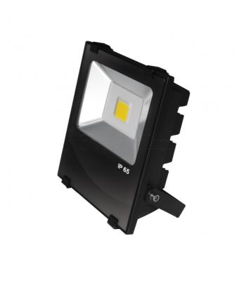 EUROELECTRIC LED COB Прожектор чёрний с радиатором 30W 6500K